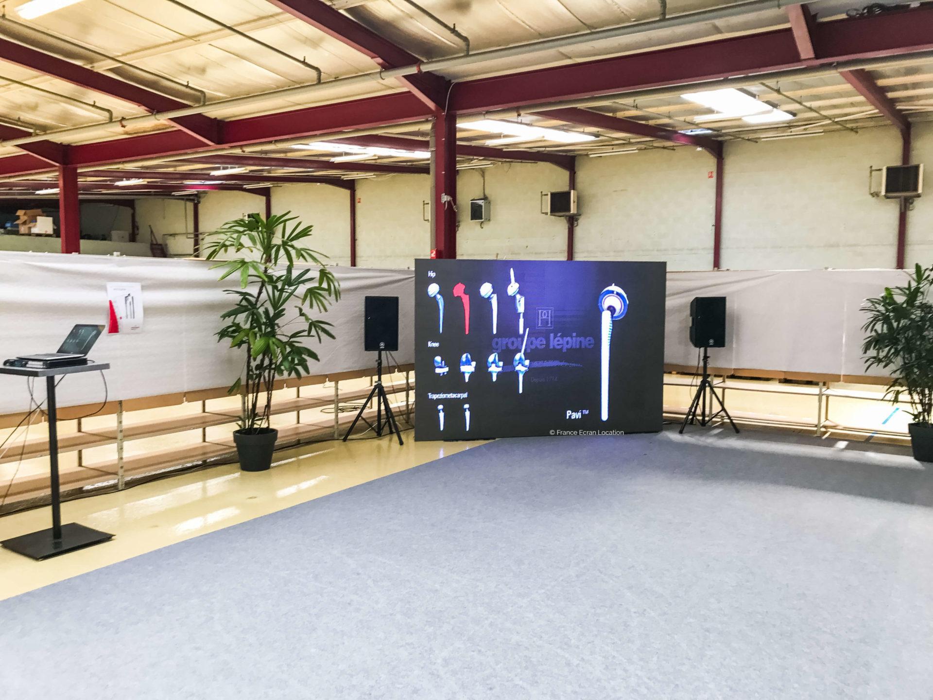 location écran géant d'intérieur pour entreprise