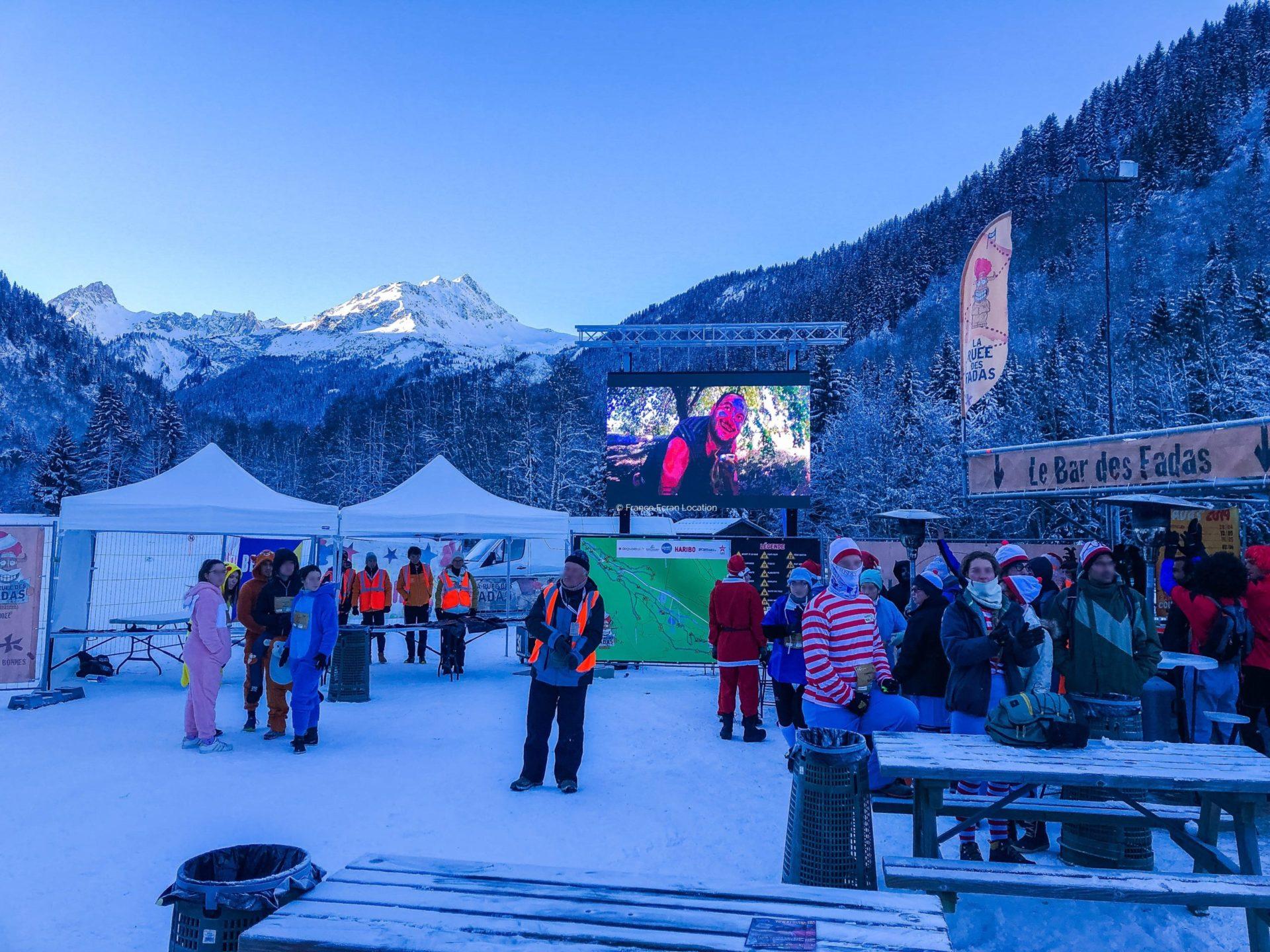 Location écran géant LED événement sportif